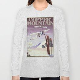 Copper Mountain colorado vintage poster Long Sleeve T-shirt