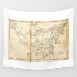 Map of China Chinese-Tartary & Tibet (1834) Wall Tapestry