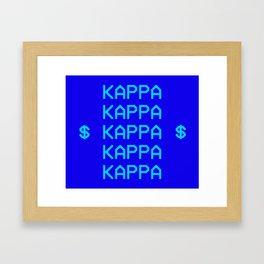 KKG KAPPA TAPESTRY Framed Art Print