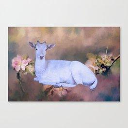 White Spirit Deer Canvas Print