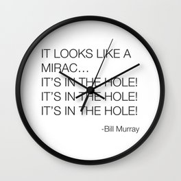 Caddyshack Bill Murray Quote Wall Clock