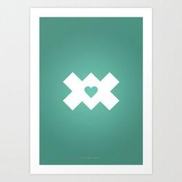 XoX Aqua Art Print