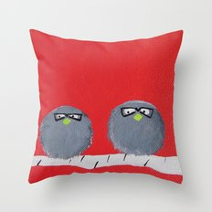 The Smart Birds Throw Pillow