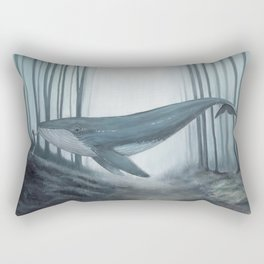 Whale in forest Rectangular Pillow