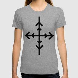 Black and White Arrow Cross 2 T-shirt