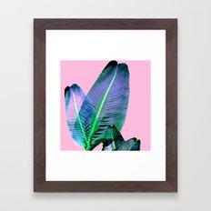 Tropical palm leaf print hot Summer Framed Art Print
