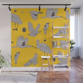 the BYrdZ: canary Wall Mural