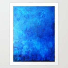 Original Abstract Painting by Tom Toy - Blue Art Print