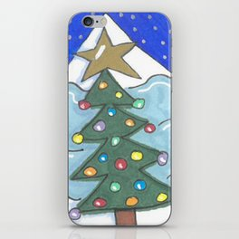 Snowman and Tree iPhone Skin