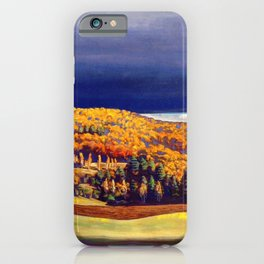 Golden Autumn landscape painting by Rockwell Kent iPhone Case