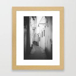 Capri Street B&W Framed Art Print