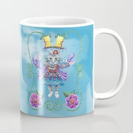 Angel Kitty (Turquoise) Coffee Mug
