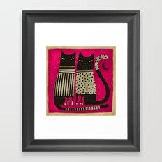PINK NIGHT Framed Art Print