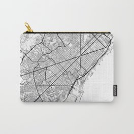 Barcelona Map White Carry-All Pouch