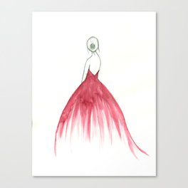 Woman in a Dress Canvas Print