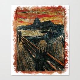 The Scream in Rio Canvas Print
