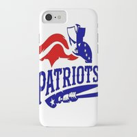 patriots iPhone & iPod Cases featuring Patriots Logo 2 by Happy Positivity