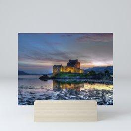 Sunset over Eilean Donan Castle, Scotland Mini Art Print