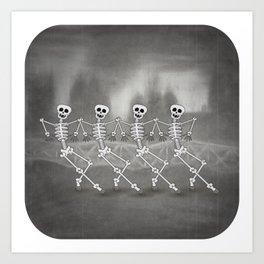 Dancing skeletons I Kunstdrucke