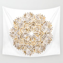 Mandala Multi Metallic in Gold Silver Bronze Copper Wall Tapestry