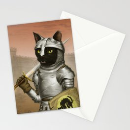 Fighter Cat Stationery Cards