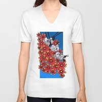 oklahoma V-neck T-shirts featuring OKLAHOMA by Erin L Turberville