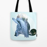 squirtle Tote Bags featuring Squirtle  by Jessica Draper