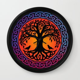 Viking Yggdrasil World Tree Wall Clock