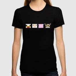 Mine Craft Block Animals T-shirt