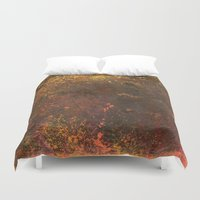 middle earth Duvet Covers featuring Middle Earth, Abstract Nature Rustic Grunge Art by Itaya Art