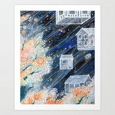 Night Houses Art Print