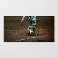 football Canvas Prints featuring Football by Goncalo