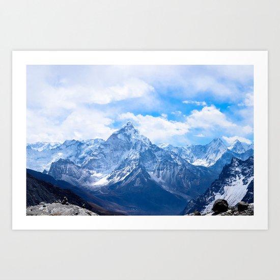 Mountains on My Mind Art Print