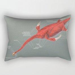 Elasmosaurus Muscle Study Rectangular Pillow