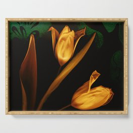 Tulips of the golden age Serving Tray