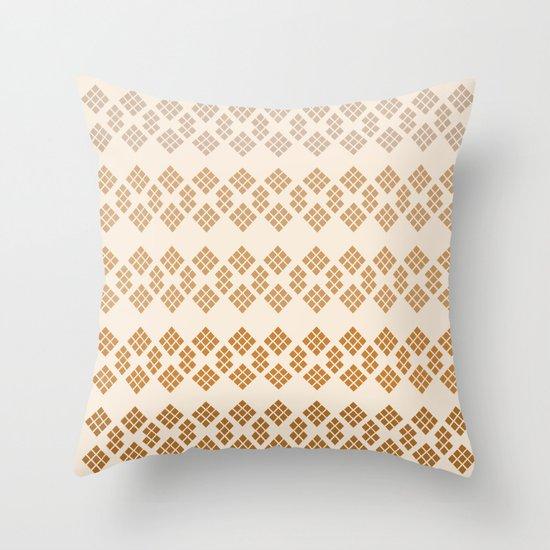 Gold Diamonds Throw Pillow