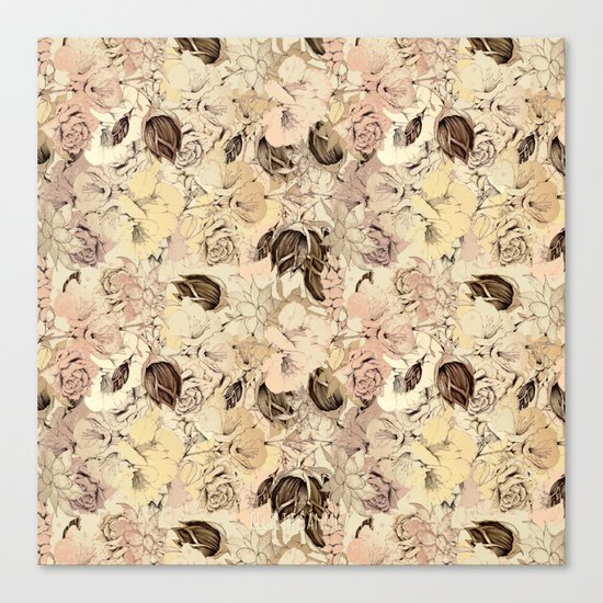 pattern Flowers Canvas Print