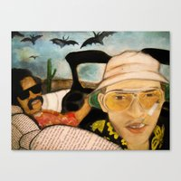 fear and loathing Canvas Prints featuring Fear & Loathing by Lindsey Pudlewski