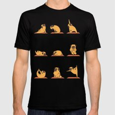 Pug Yoga Black MEDIUM Mens Fitted Tee