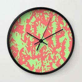 Green & Pink Abstract Wall Clock