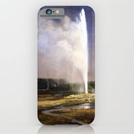 Albert Bierstadt Geysers in Yellowstone iPhone Case