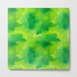 Watercolour greened Metal Print