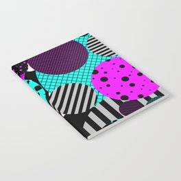 Circles, Bubbles And Stripes Notebook