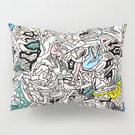 Kamasutra LOVE Doodle Closeup Color Valentine Pillow Sham