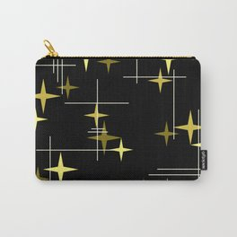 Mid Century Modern Stars Black Yellow Carry-All Pouch
