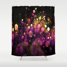 Galaxy Bubbles Shower Curtain