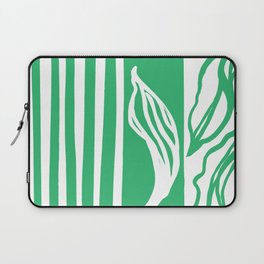 Long Leaf Stripe green Laptop Sleeve