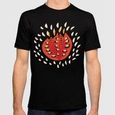 Red Abstract Tulip Black MEDIUM Mens Fitted Tee