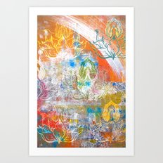 Collage de Mudra Art Print