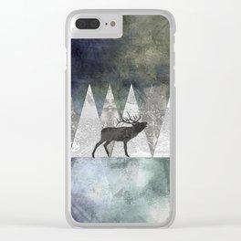 Bull Elk Clear iPhone Case
